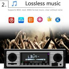 Vintage Car Bluetooth Radio MP3 Player Stereo USB/AUX Classic Stereo Audio FM