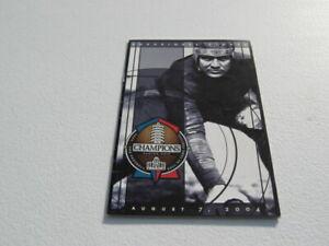 2004 Pro Football Hall of Fame Enshrinee Dinner Program John Elway Barry Sanders