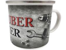 Schrauber Becher XXL Blechtasse Emaille Becher Tasse 9 x 9 cm Füllmenge 500 ml