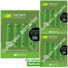 12 x GP Recyko AA Rechargeable Batteries 1000 mAh NiMH HR6 Solar Lights, Phone