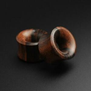 Wooden Flesh Tunnels Ear Gauges | Sono Wood Double Flare Concave Tunnel
