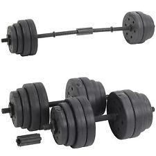 Hardcastle Black 30kg Dumbbell Set Gym Weight Lifting Bar Weights Kit Dumbbells