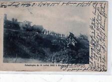 CPA BELGIQUE CATASTROPHE DU 14 JUILLET 1902 A BLEYBERG (PLOMBIERES (dos non divi
