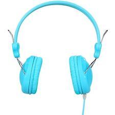 Casque d'écouteurs Hoco W5 audio filaire Jack 3.5 mm Microphone mobile PC Bleu