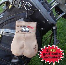 New My Sack Golf Ball Holder 2 Balls Included
