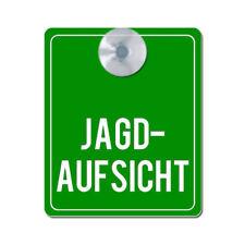 Jagdschild fürs Auto ABVERKAUF PVC-Schild mit Saugnapf JAGDSCHUTZ 10x15cm