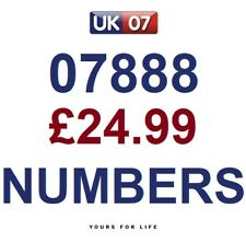 07888 - £24.99 (2) Gold Easy Memorable Business Platinum VIP UK Mobile Numbers