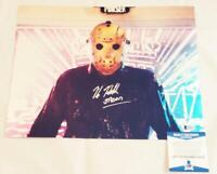 KANE HODDER SIGNED 11x14 METALLIC PHOTO JASON FRIDAY 13TH BECKETT BAS COA 724