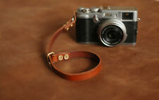Thickened brown leather 12mm Handmade camera wrist strap band | windmup