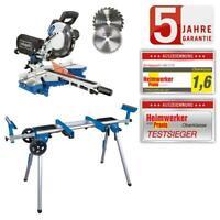 Scheppach Kapp und Gehrungssäge HM216 Zugsäge Laser + 2.Sägeblatt Untergestell