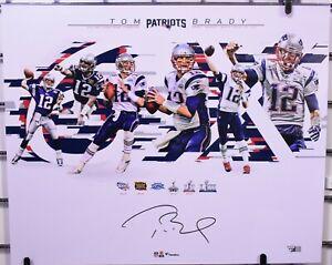 Tom Brady New England Patriots Signed 16x20 Collage Photo - Fanatics