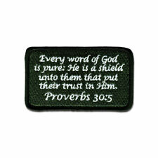 Tactical Combat Morale Patch Hook and Loop Badge by BASTION - Proverbs 30:5 ODG
