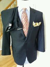 HICKEY FREEMAN  NAVY LORO PIANA  SUPER 130'S WOOL SUIT SZ 43S PANT 42W 27L