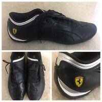 Puma Ferrari Black Leather Driving Drift Shoes Mens US 12 EUR 44 Lace-up