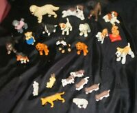 Vintage Rubber Plastic Dog Toy Figures Lot of 26 Mixture Of Breeds Figurines