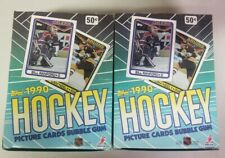 1990 TOPPS HOCKEY SEALED WAX BOX LOT OF 2, Mogilny, Roenick, Modano RC, Gretzky