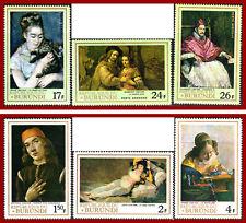 BURUNDI 1968, famous paintings, ,Sc 233-235, C59-C61, Mi 395A-400A ** MNH