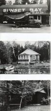 7 RPPC Griffins Sunset Bay Resort Lost Lake Eagle River Wisconsin Postcard