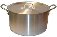 """18"""" Large Aluminium Cooking Saucepan Stock Stew Soup Casserole Catering Pan Pot"""
