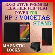 ACM-EXECUTIVE LEATHER FLIP FLAP CASE for HP 7 VOICETAB TABLET FULL COVER STAND