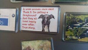 Greyhound Fridge Magnet. A Wise woman once said F*ck it I'm getting a Greyhound