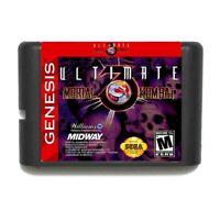 Ultimate Mortal Kombat 3: Sega Cartridge Game C13 16 Bit Megadrive Genesis