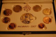 Officiel Kurssatz 2007 Vatican avec Tous Pièces de Monnaie ( 1 Cent Jusqu'à Pp