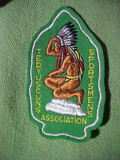 TEDYUSCUNG SPORTSMAN ASSOCIATION INDIAN JACKET PATCH 1950s