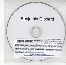 (EG911) Benjamin Gibbard, Bigger Than Love - DJ CD