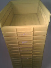 4 X YELLOW STORAGE TRAYS - PERFECT FOR ELECTRONICS - AUCTION FOR FOUR UNITS!