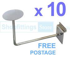 10 x Slat Panel Hat Brackets slatwall Headwear Wig Millinery Display Stand