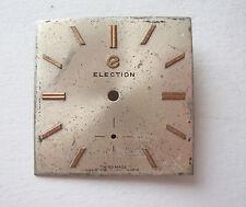 VINTAGE ELECTION  metalic WATCH DIAL ESFERA CADRAN ZIFFERBLATT 25mm