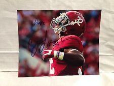 ALABAMA C.J CJ MOSLEY SIGNED AUTO FOOTBALL 8X10 PHOTO NFL DRAFT COA WOW C
