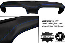 BLUE STITCHING TOP DASH DASHBOARD LEATHER COVER FITS FORD MUSTANG 1969-1970