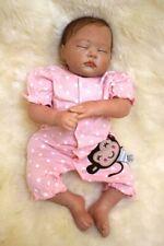 "Real Life Baby Dolls  Handmade Newborn Doll Vinyl Silicone Reborn Baby Dolls 22"""