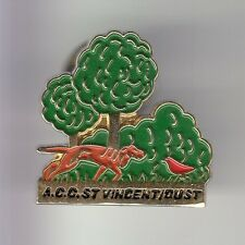 RARE PINS PIN'S .. SPORT CHASSE HUNTING CHIEN DOG ST VINCENT SUR OUST 56 ~C4