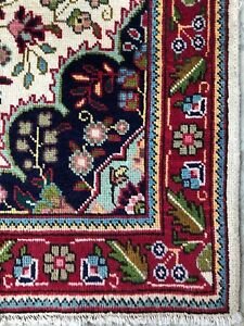 5x3 VINTAGE HANDMADE WOOL ANATOLIAN AUTHENTIC ANTIQUE FLORAL DESIGN OUSHAK RUG