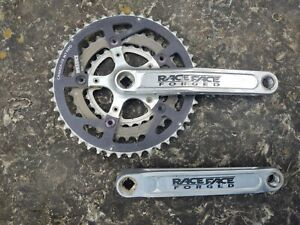 Race Face Forged Triple Crankset - Silver Anodized Cranks - 170mm