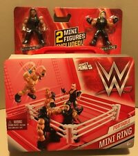 WWE Portable Mini Ring -2 Mini Figures Included!- (BRAND NEW) *HOT*