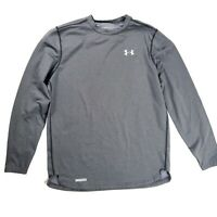 Under Armour Cold Gear Men's Large Long Sleeve Fitted Athletic Shirt Grey Warm