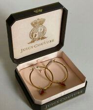 NEW! JUICY COUTURE CHERRY HEART GOLD HOOP FASHION JEWELRY EARRINGS $58 SALE