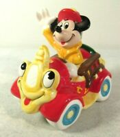 Disney Mickey Mouse Fire Chief Fireman Enesco Figurine Music Box Vtg Not Working