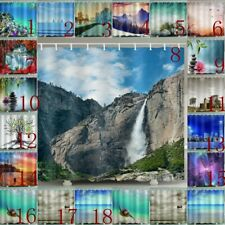 Psychedlic Lake Scenery Shower Curtain With Hooks Waterproof Bath Curtains Decor