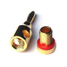 12 Bananenstecker Adapter für KABEL bis zu 8 mm² für 5.1 Set oder bis zu 6 Boxen