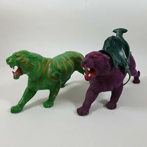Battle Cat & Panthor Vintage He-Man Masters Of The Universe Action Figures 1983