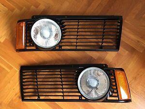 BMW E21 single big headlights EURO kit OEM grilles lenses RARE 320iS 323i