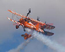 4 X BOEING PT-17 KAYDET STEARMAN BREITLING WINGWALKERS PHOTOGRAPHS