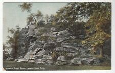 [52731] 1909 POSTCARD MEETING HOUSE ROCKS IN NORWICH, CONNECTICUT