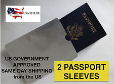 RFID Blocking Passport Sleeve Passport Holder 2 SLEEVES