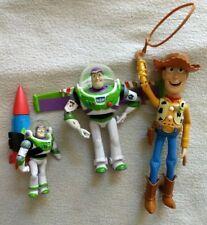 "Disney Toy Story lot, Talking Pullstring Woody 8"" Lasso, Buzz, Rocket"